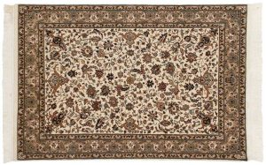 4×6 Isfahan Oriental Ivory Hand-Knotted Rug