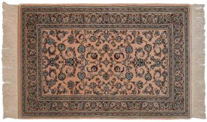 4×6 Isfahan Oriental Rose Hand-Knotted Rug