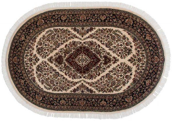 4x6 ivory oriental oval rug 042390
