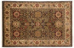 4×6 Jaipur Oriental Brown Hand-Knotted Rug
