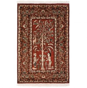 4×6 Vintage Kabul Oriental Brown Hand-Knotted Rug