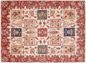 4×6 Kazak Oriental Ivory Hand-Knotted Rug
