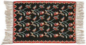 4×6 Kilim Oriental Black Kilim (Flatweave) Rug