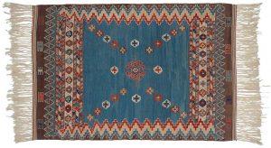 4×6 Kilim Oriental Blue Kilim (Flatweave) Rug