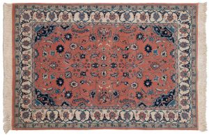 4×6 Kerman Oriental Peach Hand-Knotted Rug