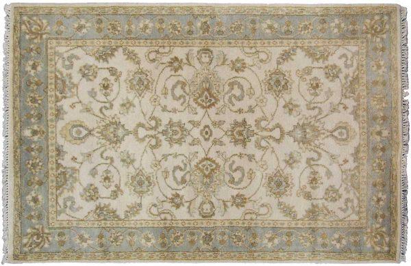 4x6 oushak ivory oriental rug 045004