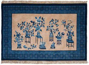 4×6 Peking Oriental Beige Hand-Knotted Rug