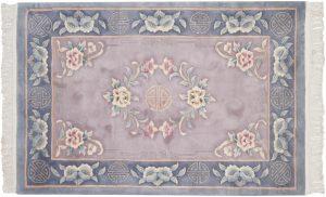 4×6 Vintage Peking Oriental Beige Hand-Knotted Rug