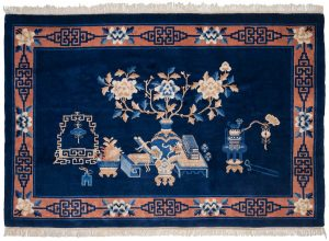 6×4 Peking Oriental Blue Hand-Knotted Rug