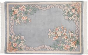 4×6 Vintage Peking Oriental Grey Hand-Knotted Rug