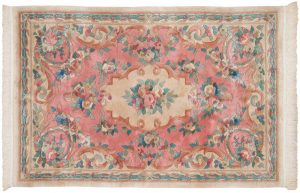 4×6 Semi-Antique Peking Oriental Rose Hand-Knotted Rug