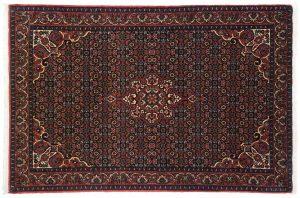 4×6 Persian Bijar Oriental Blue Hand-Knotted Rug