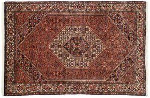 4×6 Persian Bijar Oriental Rust Hand-Knotted Rug