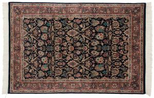 4×6 Persian Oriental Blue Hand-Knotted Rug
