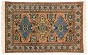 4×6 Semi-Antique Persian Guba Oriental Peach Hand-Knotted Rug