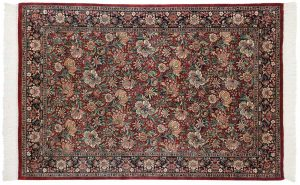 4×6 Floral Oriental Red Hand-Knotted Rug
