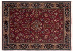 4×6 Sarouk Oriental Rust Hand-Knotted Rug
