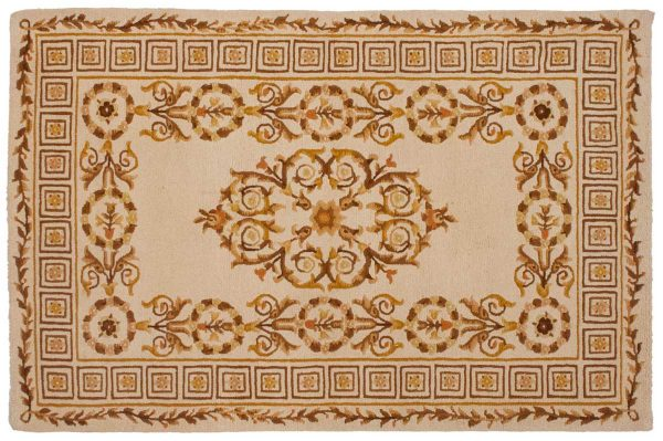 4x6 spanish gold oriental rug 012395