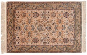 4×6 Sultanabad Oriental Ivory Hand-Knotted Rug