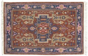 4×6 Oushak Oriental Rust Hand-Knotted Rug