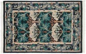 4×6 Voysey Oriental Black Hand-Knotted Rug