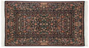 4×7 Aubusson Oriental Blue Hand-Knotted Rug