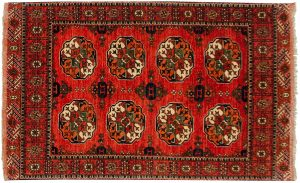 4×7 Ersari Oriental Rust Hand-Knotted Rug