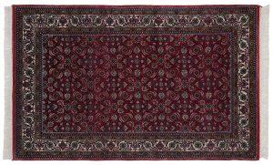 4×7 Bijar Oriental Red Hand-Knotted Rug