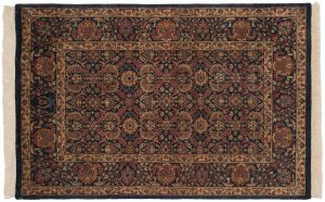 4×7 Kerman Oriental Blue Hand-Knotted Rug