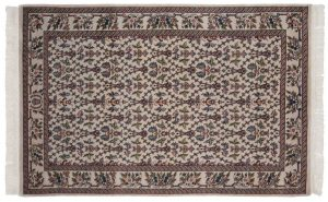 4×7 Aubusson Oriental Ivory Hand-Knotted Rug