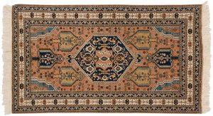 4×7 Vintage Persian Ardebil Oriental Peach Hand-Knotted Rug