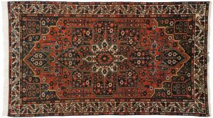 4×7 Persian Baktiari Oriental Rust Hand-Knotted Rug