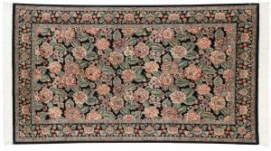 4×7 Persian Oriental Black Hand-Knotted Rug