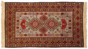 4×7 Vintage Shirvan Oriental Silver Hand-Knotted Rug
