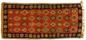 4×9 Semi-Antique Moroccan Oriental Rust Hand-Knotted Rug