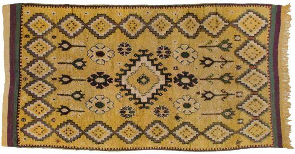 5x10 moroccan gold oriental rug runner 013568