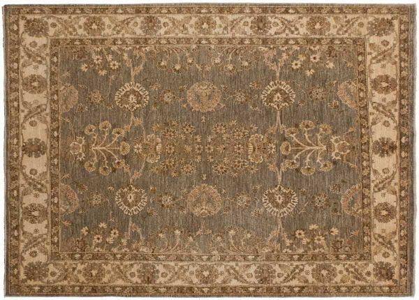 5x5 chobi grey oriental rug 043818