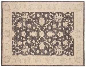 5×6 Chobi Oriental Grey Hand-Knotted Rug