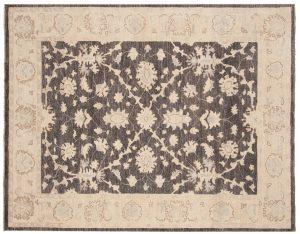5×6 Chobi Oriental Grey Hand-Knotted Rug