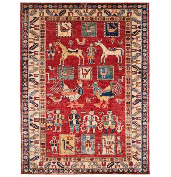 5x6 kazak red oriental rug 046212