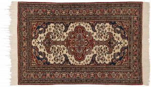 5×6 Persian Ardebil Oriental Ivory Hand-Knotted Rug
