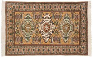 5×6 Semi-Antique Persian Guba Oriental Gold Hand-Knotted Rug