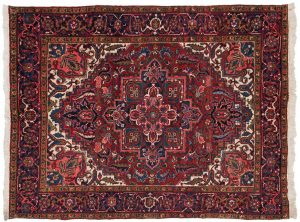 5×6 Persian Heriz Oriental Red Hand-Knotted Rug