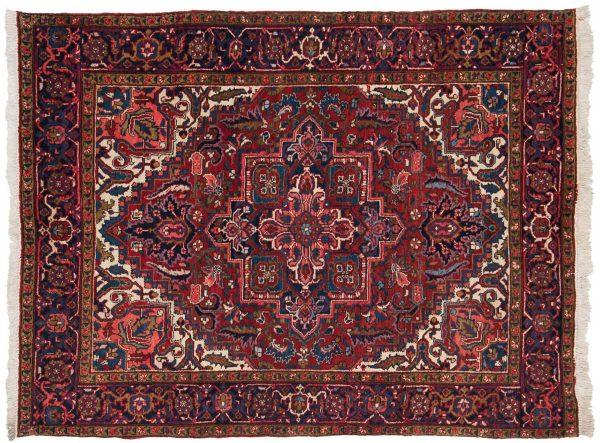 5x6 persian heriz red oriental rug 035122