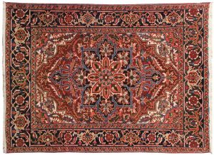 5×6 Semi-Antique Persian Sharabian Oriental Red Hand-Knotted Rug