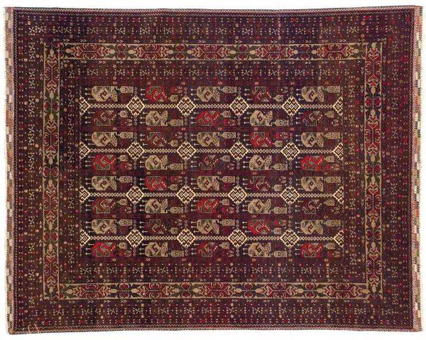 5x6 red oriental rug 043811