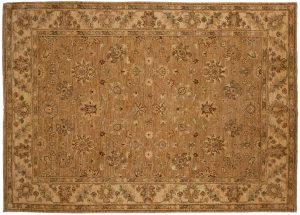 5×7 Chobi Oriental Brown Hand-Knotted Rug