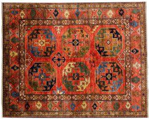 5×7 Ersari Oriental Rust Hand-Knotted Rug