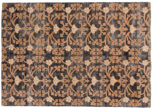 5×7 Samarkand Oriental Grey Hand-Knotted Rug