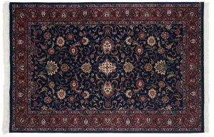 5×7 Meshed Oriental Blue Hand-Knotted Rug